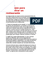 administracion de un restaurante