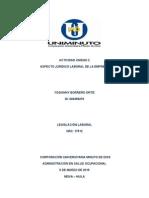 Actividad 2 Legislación. Aspecto Jurídico Laboral de La Empresa