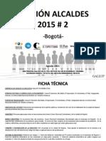 Encuesta Gallup alcaldía de Bogotá agosto de 2015