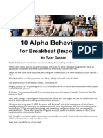 Tyler Durden - 10 Alpha Behaviours for Breakbeat