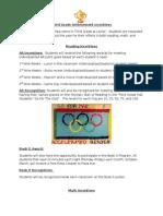 Third Grade Achievement and Incentives