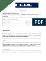 Plano de Ensino - Linguística Sintaxe (2015.1 Noite)