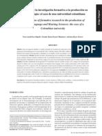 Aportes Investigación Formativa Enfoques
