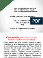 1era Clase Salud Comunitaria 2014-1
