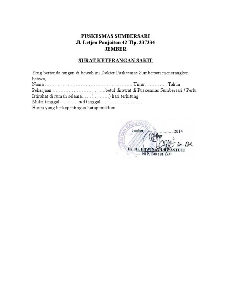 Puskesmas Sumbersari Jl Letjen Panjaitan 42 Tlp 337334