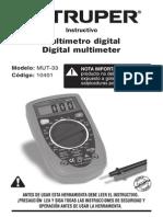 Manual Multimetro Truper MUT-33
