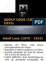 ADOLF LOOS - Arquitetura Moderna