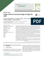 Design Criteria for Structural Design of Silage Silo Walls