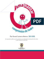 PlanDecenaldeLactanciaMaterna2010-2020Nov17de2010