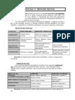 Secuencias y Tipos de Texto