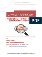 Global Storage Hardware Industry 2015 Market Research Report
