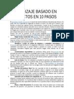 Aprendizaje Basado en Proyectos en 10 Pasos