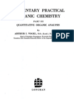 Vogel - Elementary Quantitative Organic Analysis