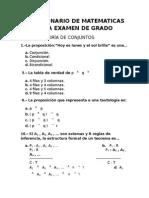 Cuestionario de Matematicas Para Examen de Grado