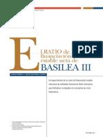 El Ratio de Financiación Estable Neta de Basilea III