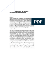 The Role of Property Tax in Fiscal Decentralization in Indonesia 2002 Policy and Society