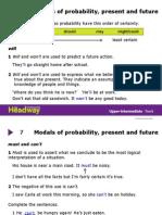 HDW UpperInt Grammar 7 Modals of Probability