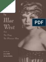Three Plays by Mae West 1997