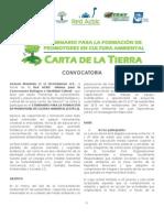Convocatoria II SFPCA - Carta de la Tierra