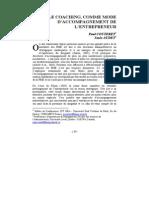Accompagnement de l Entrepreneur - Couteret Et Audet- 2006