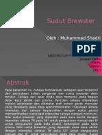 Presentasi Sudut Brewster (M.shadri 1110442023)