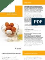 Egg Allergy -Alternate names for Egg ingredients in food ingredient Lists