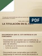 Titulacion en El Ceti