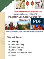 Revision Course in Mandarin