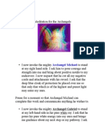 Invocation and Meditation for the Archangels