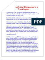 Twelve Proofs that Muhammad is a True Prophet
