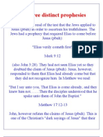 Three distinct prophesies