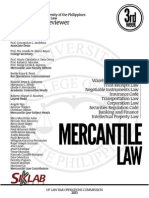 UP Bar Reviewer 2013 Mercantile Law