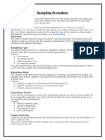 Sampling Procedure & Sampling Scheme