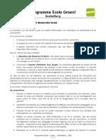 Ecolo/Groen Koekelberg - Programme pour les élections communales de 2006