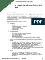 Tema 6 La Ciudad Industrial Del Siglo XIX y Sus CrIticos