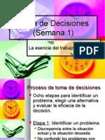 Toma de Decisiones (Semana 1)