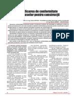 Certificarea de Conformitate Produse Pentru Constructii