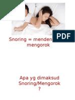 Penyuluhan Snoring