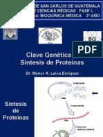 Clave-genetica y Sistesis de Proteinas