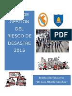 Plan de Gestión Del Riesgo_2015