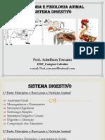 Digestão e anatomia digestorio animais
