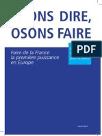 """Manifeste """"Osons Dire Osons faire"""" de François Fillon"""