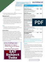 Sat2 Subject Test Pcm Syllabus Pattern Similarity Jee