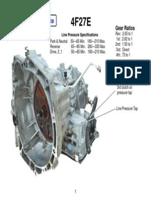 4F27E 1 | Transmission (Mechanics) | Fuel Injection