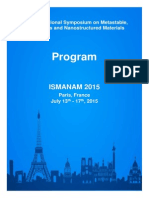 Ismanam 2015 Final Program
