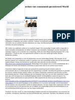 5 belangrijke kenmerken van consument-gecentreerd World Wide Web lay-out