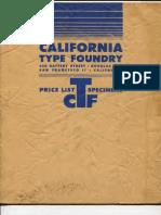 California Type Foundry Specimens