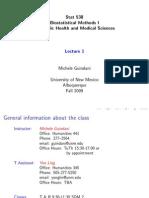 biostatistic methods for medicals