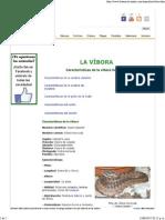 Características de La Víbora