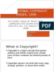 International Copyright Order, 1999